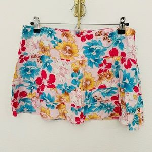 NEW Zara TRF Floral Skirt with Side Zipper